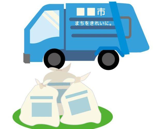東村山市の粗大ゴミを回収する収集車
